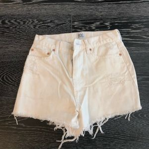 Urban outfitters white distressed denim shorts